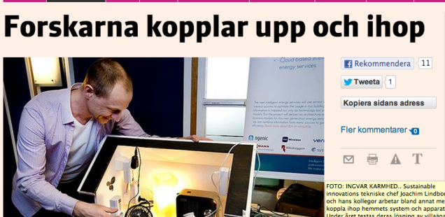 IEA project featured in swedish press